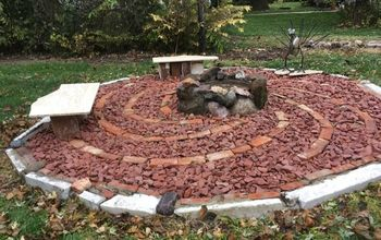 stage one of my up cycled backyard the fire pit