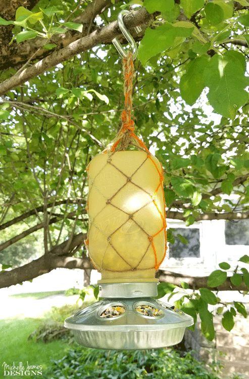 fall mason jar hanging bird feeder