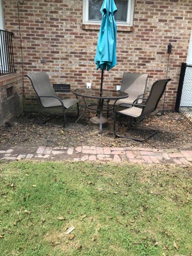 q how do you best prepare a small ground area to make a patio