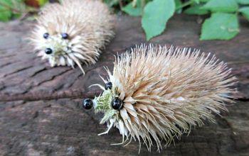 how to make an adorable teasel hedgehog