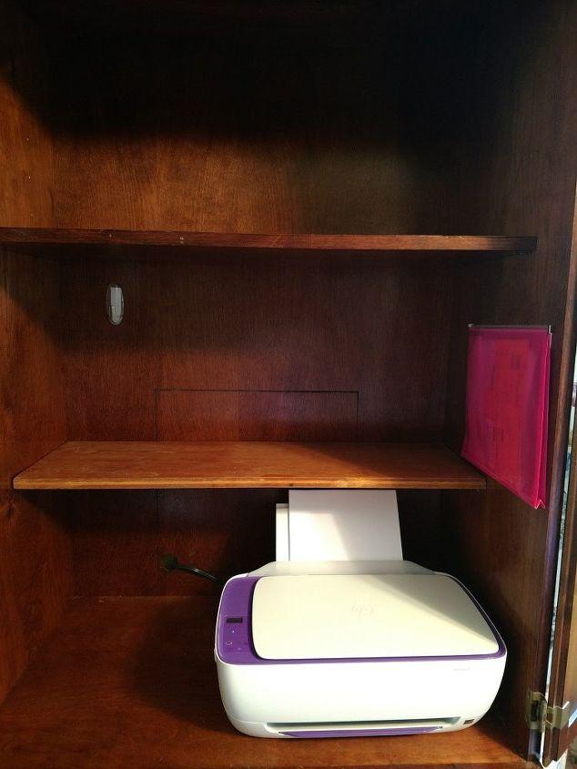 Original shelf in place and additional shelf