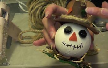 Scarecrow Ornament ~ Fall DIY