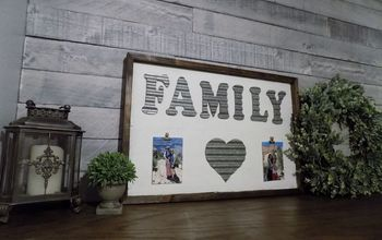 diy rustic wood and metal family photo frame