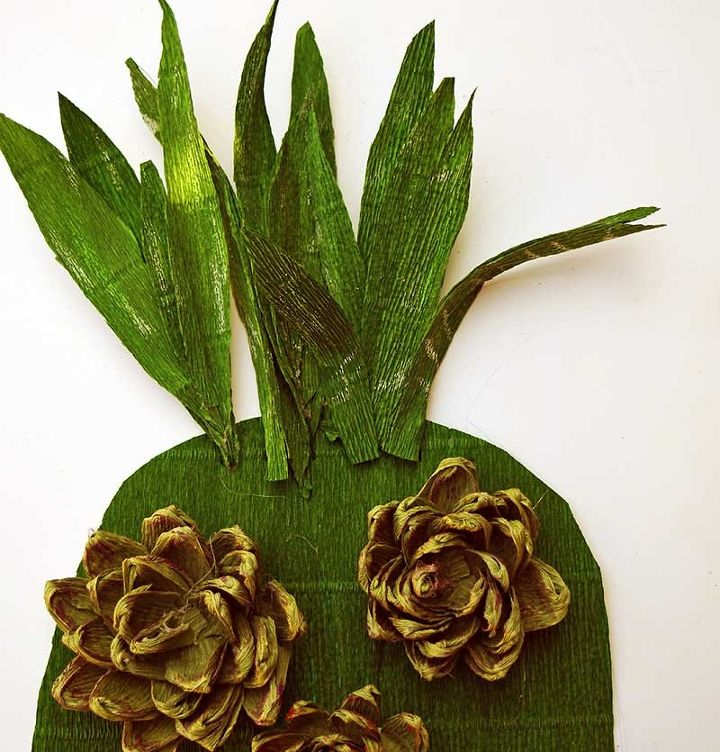 fun summer pineapple paper flower wall decoration