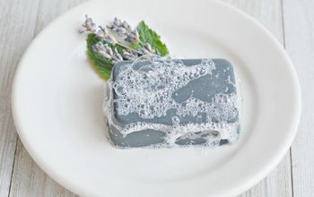 diy charcoal and clay facial bar soap with essential oils
