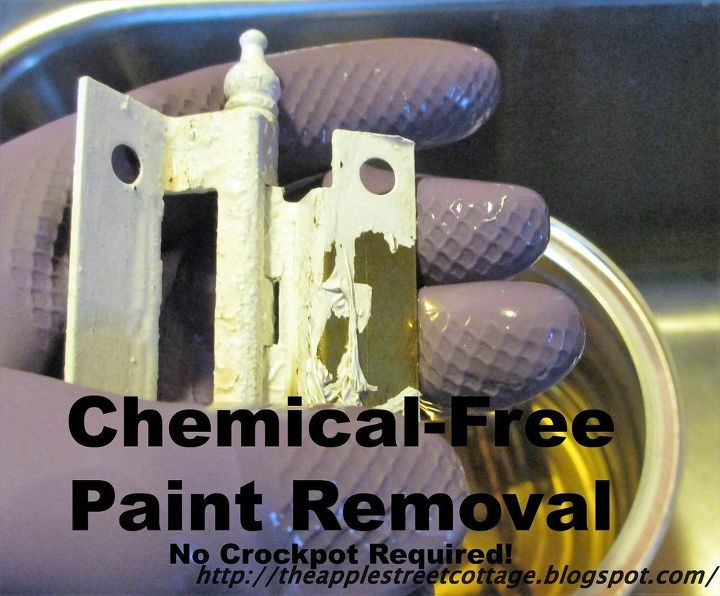 clean painted hinges with no chemicals