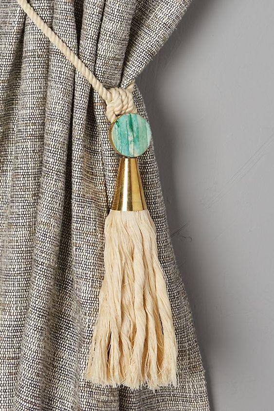 s 17 anthropologie inspired decor ideas for less, Anthropologie Inspired Watershed Curtain Tie