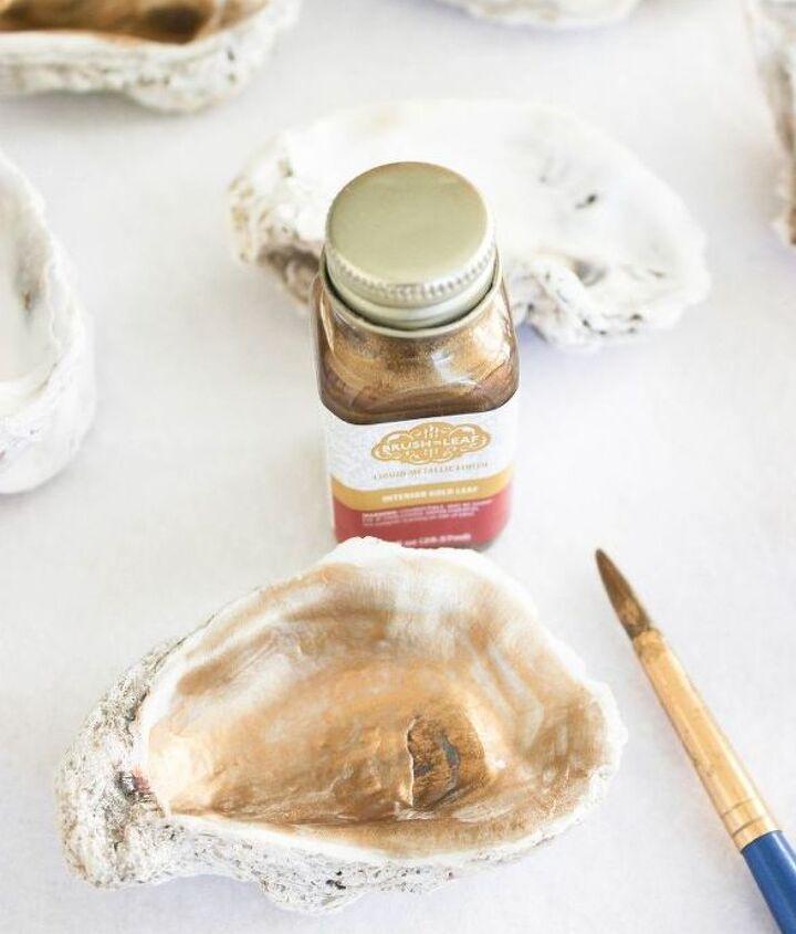 hand paint an oyster shell