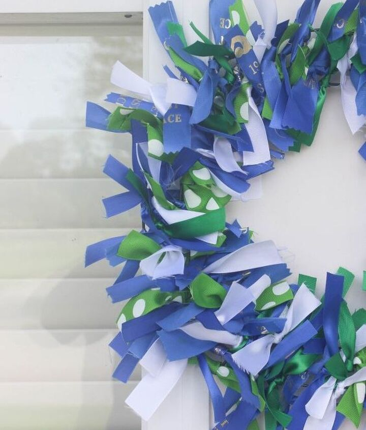 swim ribbon wreath