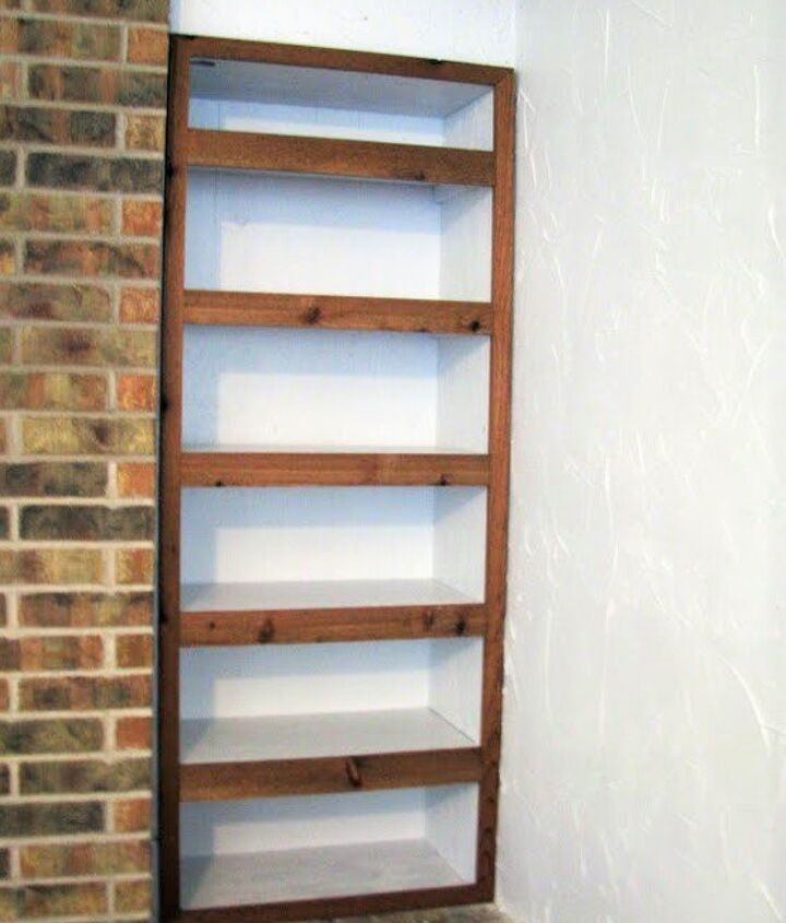 building a recessed shelving unit