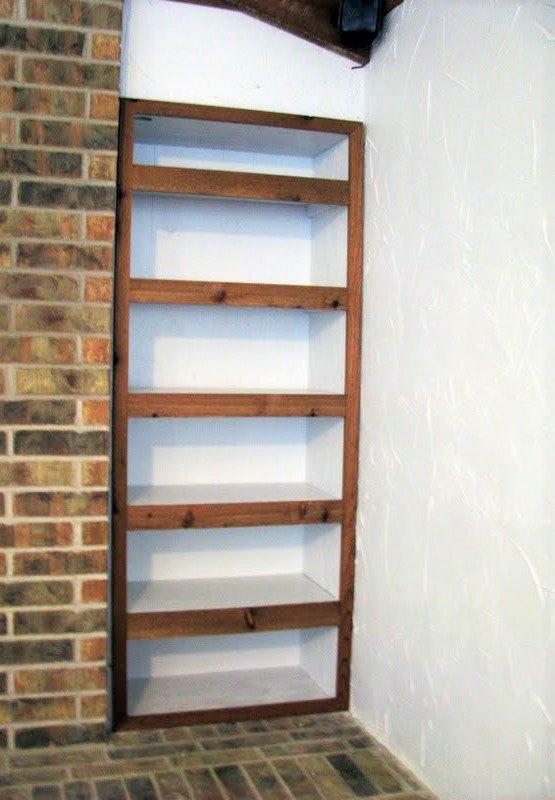 building a recessed shelving unit