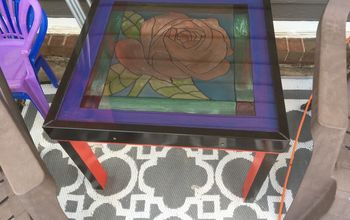 skylight window to stained glass look table part 2