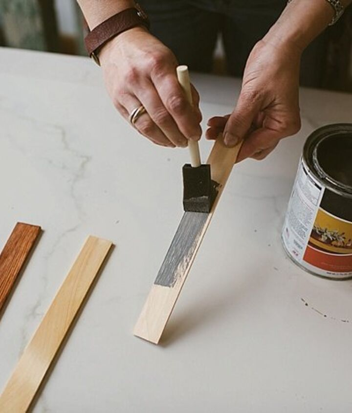 easy modern inlayed wood tray