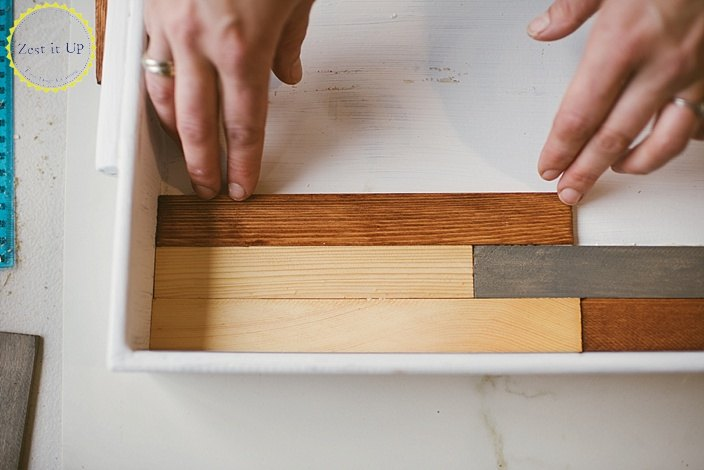 easy modern inlayed wood tray