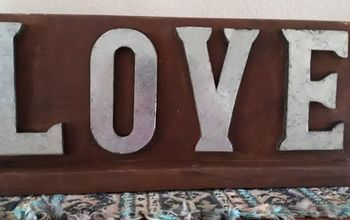restoring a love sign, Finished Love sign