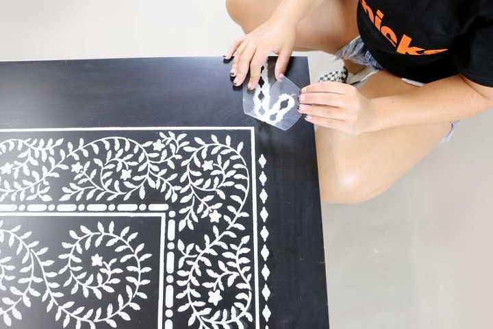 how to upgrade an ikea lack table with an easy to use inlay stencil