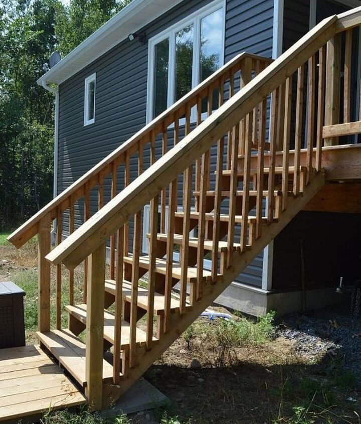 how to build deck stairs from pressure treated lumber