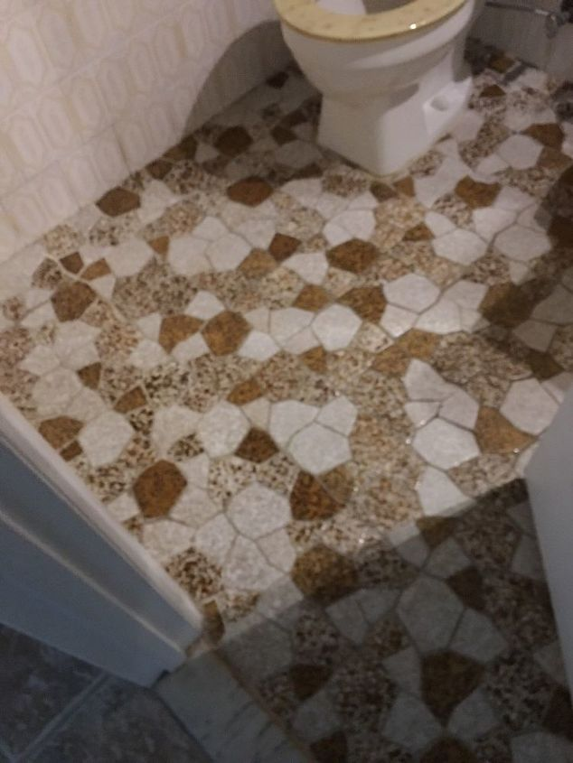 q how can i redo a bathroom no shower ugly tiled half wall
