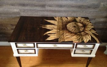 sunflower designed desk