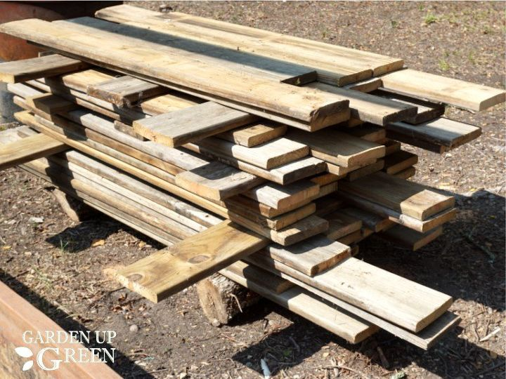 recycled wood planter boxes