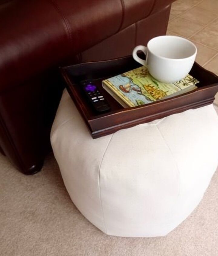 make a floor pouf from a drop cloth