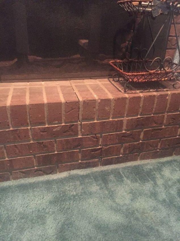 Astonishing How Do I Repair A Cracked Brick Fireplace Hearth Hometalk Download Free Architecture Designs Xerocsunscenecom