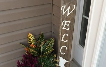 Barn Wood Welcome State Sign for Dollars!
