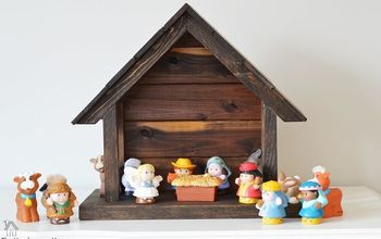 how to make your own wood nativity for christmas