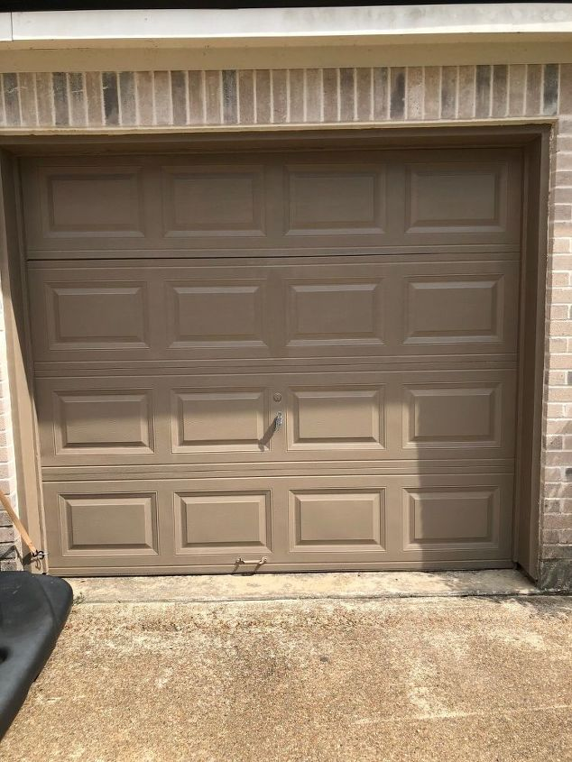 creating a faux wood garage door