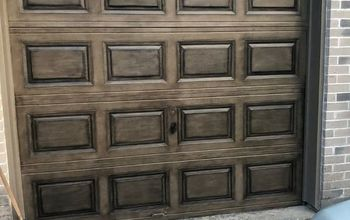 Creating a Faux Wood Garage Door