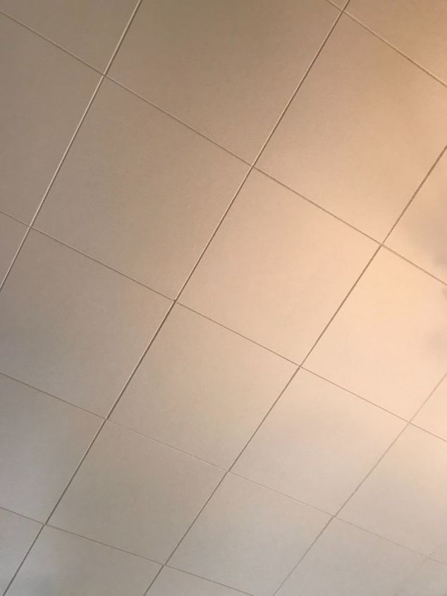 q fast way to update ceiling tiles in a older home
