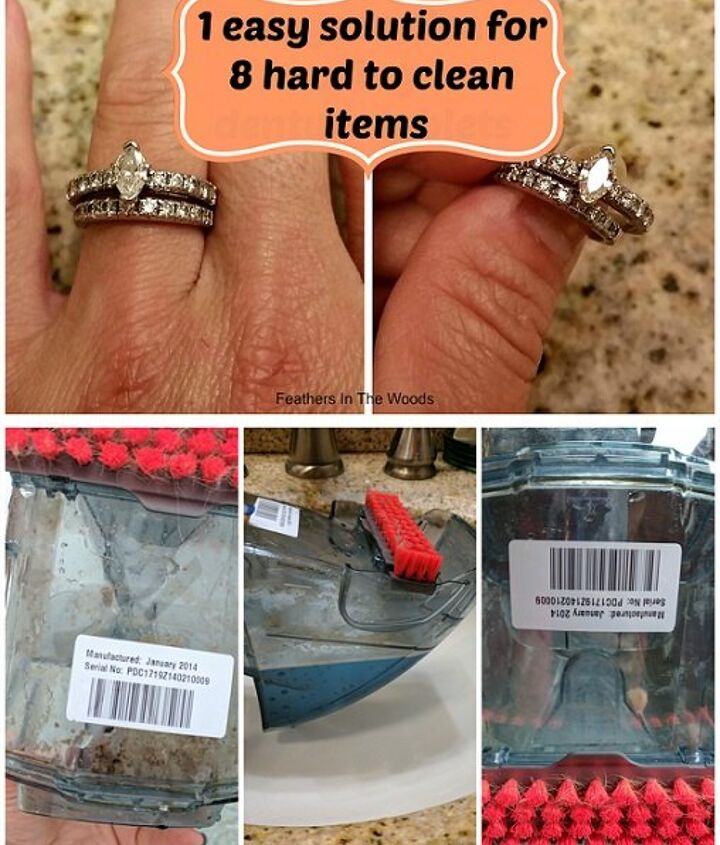 cleaning difficult items with denture tablets