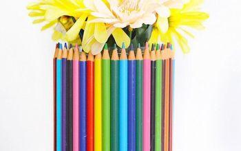diy pencil vase