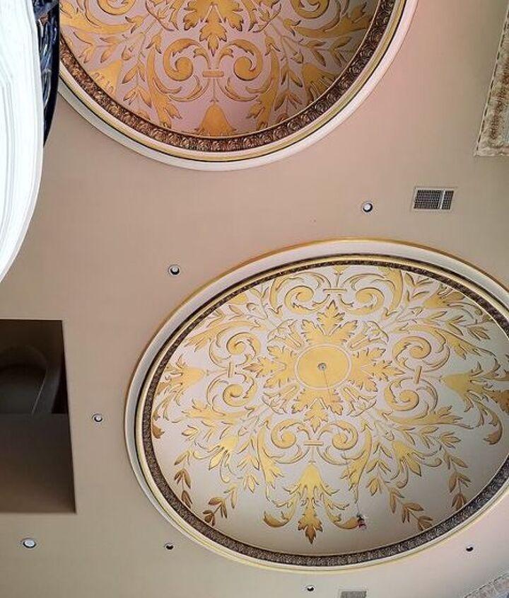 stunning metallic statement ceilings