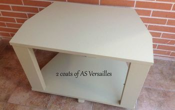 TV Unit Painted With AS Chalk Paint - Versailles - Waxed in Bronze