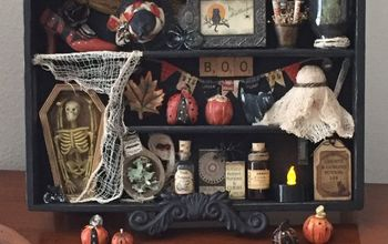 wood cutlery organizer finds the halloween spirit, From Hopeless Discard to Halloween Decor