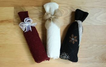 Super Easy DIY Wine Gift Bag From a Sweater