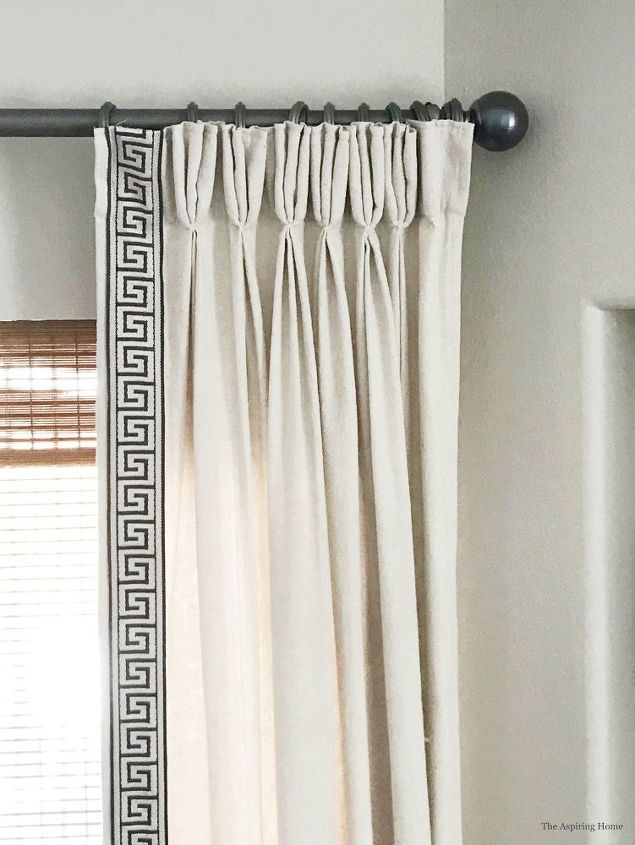 simple update paint curtain finials with fingernail polish