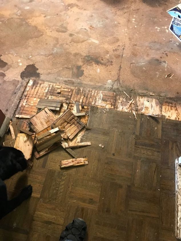 How Do I Remove Wood Parquet Flooring That Is Glued Down Super