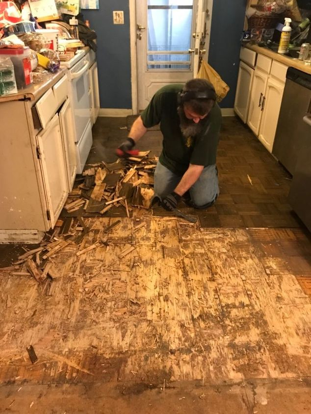 How Do I Remove Wood Parquet Flooring That Is Glued Down Super Tight