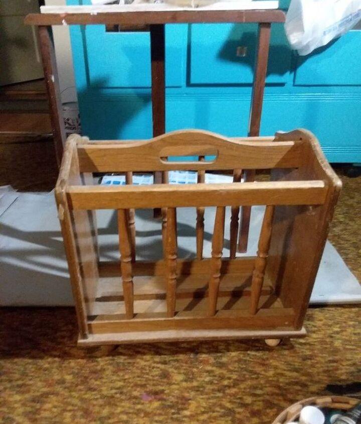 q how do i repurpose a retro magaxine bookholder