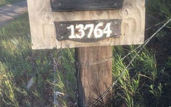 Finished Farm Address Sign