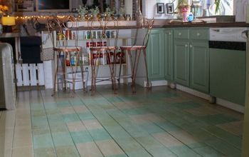 buffalo check painted floor
