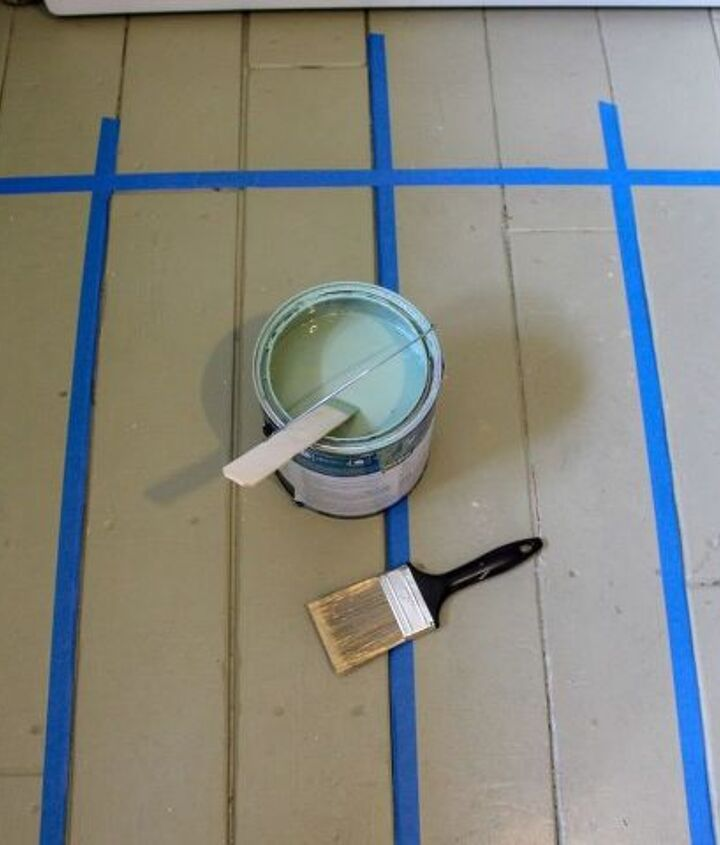 buffalo check painted floor