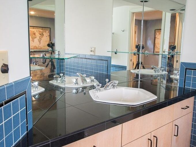 add bathroom storage in the walls