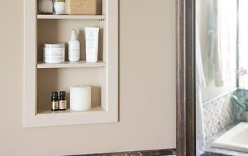 add bathroom storage in the walls