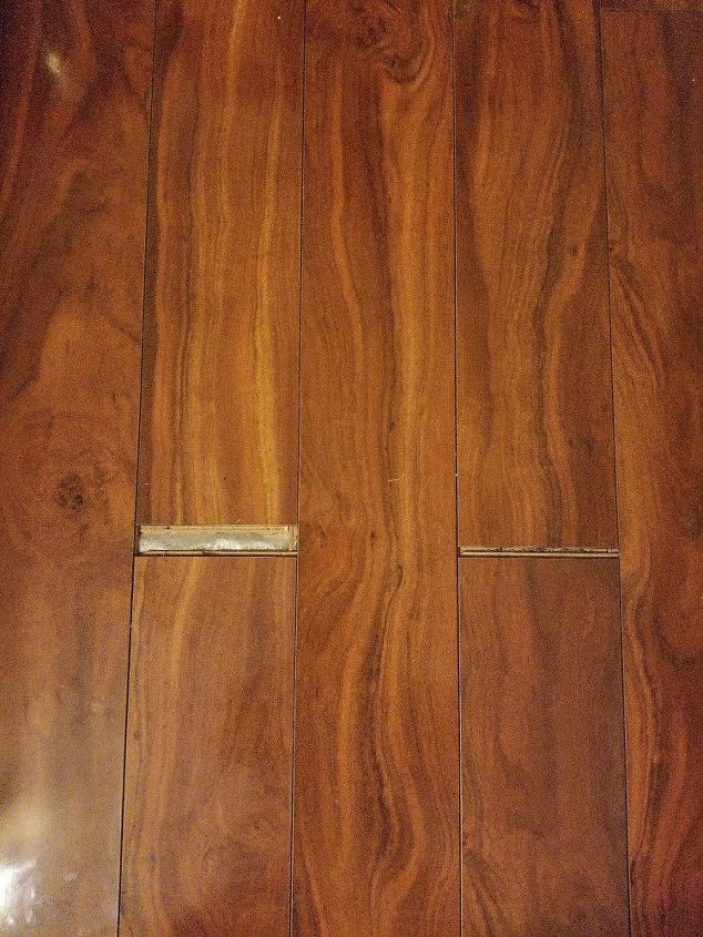 q how do i close the space in my laminate floor