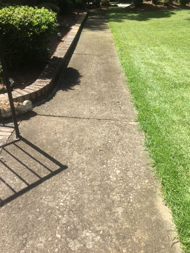 q how to clean aged dirty walkway and porch