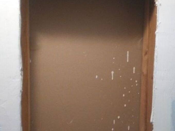q ideas for framing out recessed shelves