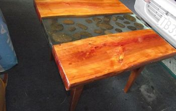 A Poured Epoxy Resin Coffee Table